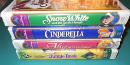 DISNEY VHS Lot of 4 Jungle Book (Black Diamond)... - $24.70