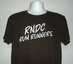 Sailor Jerry RNDC Rum Runners T Shirt Mens Large Brown Cotton  - $21.73