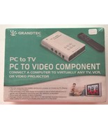 NEW Grandtec USA PC Computer to TV EZ Connect Kit VCR Video Projector GX... - $32.71