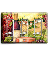 TUSCAN COUNTRY VINE BOTTLE CHEESE GRAPES 3 GFCI LIGHT SWITCH PLATE KITCH... - $16.19