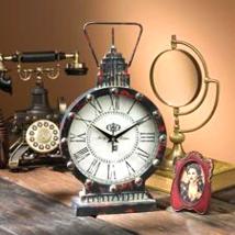 Gotham Steampunk Metal Table Clock - £24.98 GBP