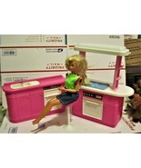 Barbie Doll And Barbie Kitchen - $30.00