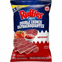 3 Bags Ruffles Double Crunch Ketchup 180g From Canada - FRESH & DELICIOUS! - $25.69