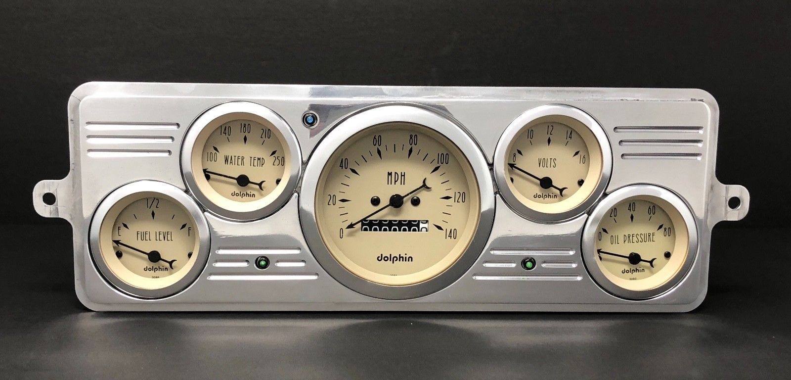 1939 Chevy Car 5 Gauge Dash Panel Cluster Set 39 Black