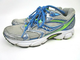 Saucony Cohesion 5 Womens Sz 6.5 Running Shoes Green Blue Silver Orthoheel Nice - $18.50