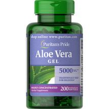 Puritan's Pride Aloe Vera Extract 5000 mg Softgels 200 Count.. - $16.82