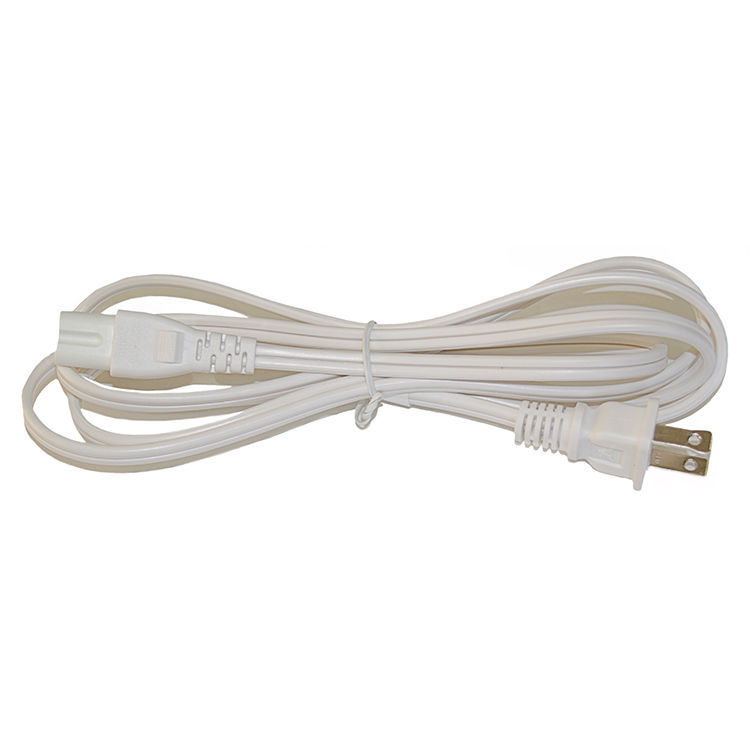BYBON 15ft 18 AWG SJT 3 Prong Power Cord for Laptop PC Adapter White UL