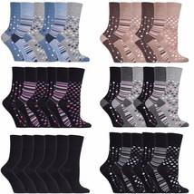 Gentle Grip - 6 paires femme coloré bambou chaussettes sans elastique 37-42 eur - $19.59