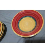"""Royal Norfolk Mambo Dinner Bowls 7"""" + 7.25"""" + 7.5"""" Set of 7 Dishes - USED! - $64.35"""