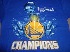 NWT Blue Golden State Warriors 2015 NBA Finals Champions Basketball T Shirt M image 4