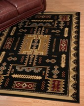 Southwestern Lodge Western Cabin Rustic Tribal Black Area Rug **FREE SHI... - €86,31 EUR+