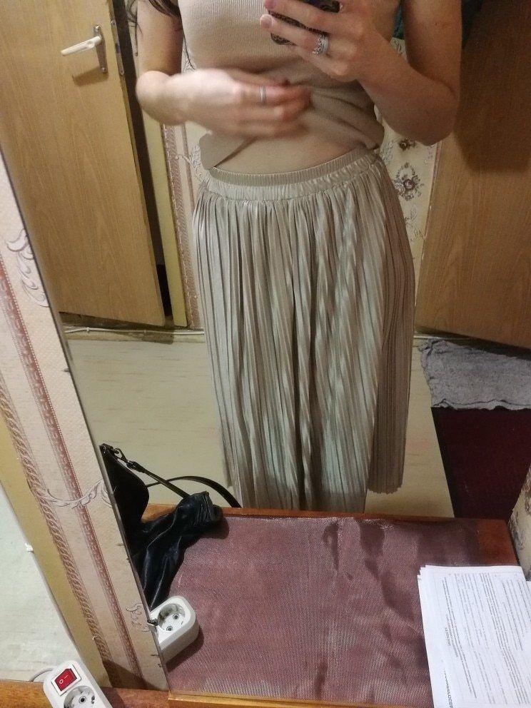 Silver Gold Pleated Skirt Vintage High Waist Long Metallic image 8