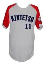 Hideo Nomo #11 Kintetsu Buffaloes Japan Baseball Jersey Grey Any Size image 1