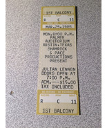 Julian Lennon Ticket Stub Unused could be repurposed for private event. - $13.50