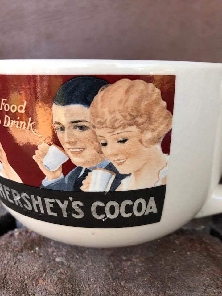 Vintage Hershey's Cocoa Ceramic Soup Bowl Mug