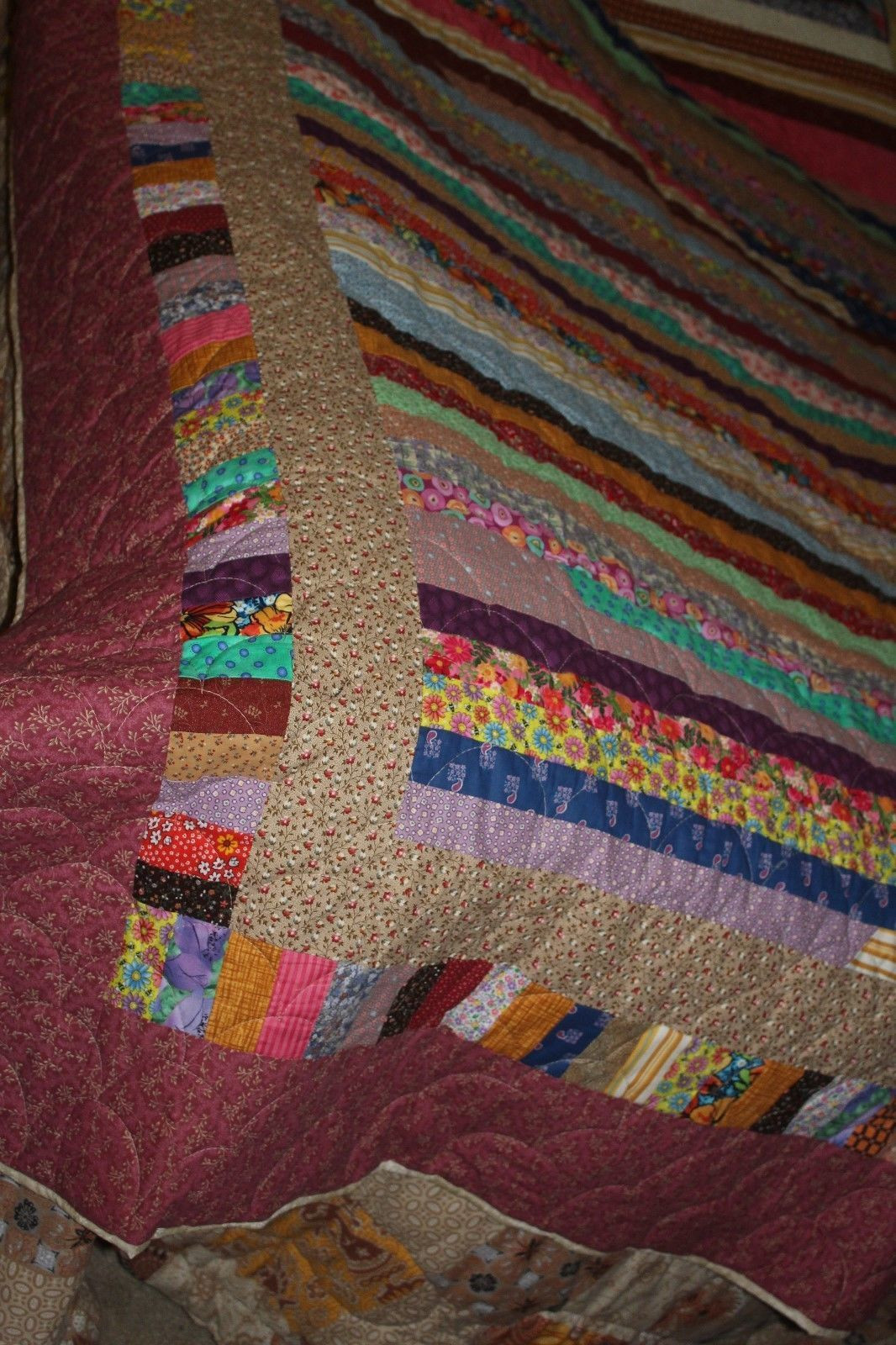 Quilt handmade machine quilted queen or full size all cotton new 87 by 103