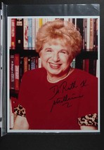 Dr. Ruth Westheimer Signed Autographed Glossy 8x10 Photo + Two Signed 3x5 Index  - $29.99