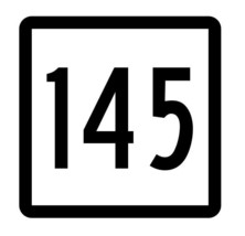 Connecticut State Highway 145 Sticker Decal R5157 Highway Route Sign - $1.45+