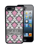 PERSONALIZED RUBBER CASE FOR iPHONE X 8 7 6 5 SE 5c PLUS PINK WHITE GRAY... - $14.98
