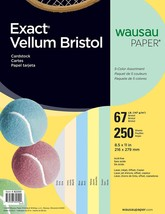 Wausau Exact Vellum Bristol, 8.5 X 11 Inches, Assorted, 250 Count 82250 - $24.86