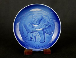 """Bing & Grondahl 6"""" Mother's Day Plate, 1986, Mother Elephant & Calf, #PL... - $6.81"""