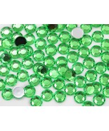 11mm SS48 Green Peridot .PD2 Acrylic Rhinestones - 60 PCS - $3.97