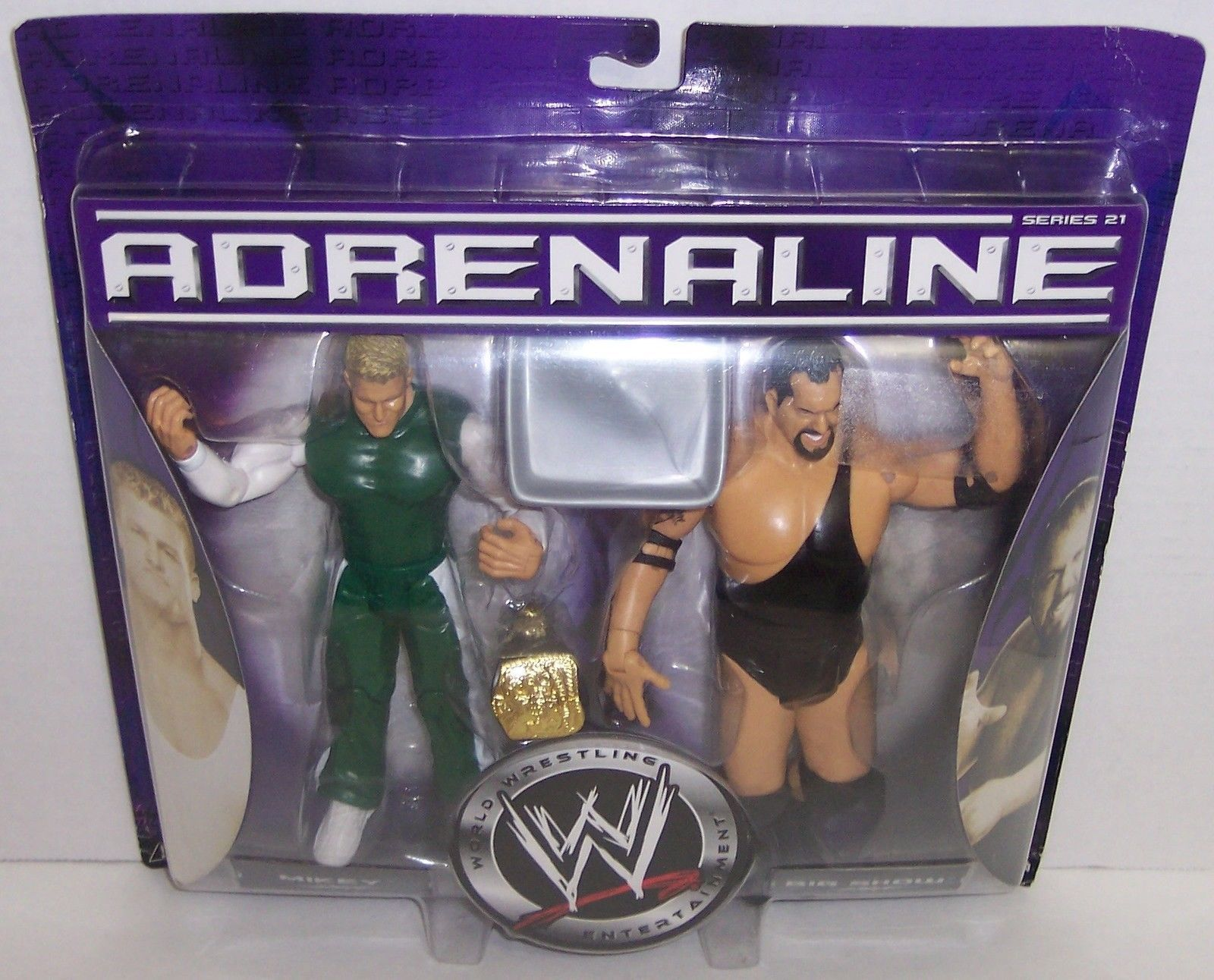 "NEW! 2006 Jakk's Adrenaline ""Mikey"" & ""Big Show"" Action Figure Set WWE [1482}"