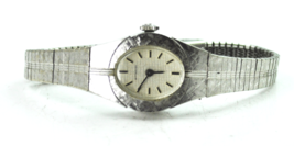 """Women's Wittnauer 5K 1977-2 Grid Dial 19mm Vintage Wristwatch 8"""" - $15.83"""