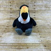 "Webkinz Toco Toucan Plush Stuffed Animal HM223 Ganz Black NO CODE 8"" - $15.97"