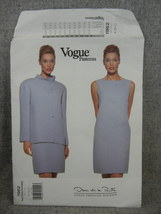 Misses 8 10 12 Jacket  Dress Vogue 1962 Oscar De La Renta American Desig... - $20.00