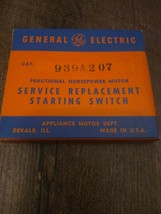 GE General Electric Motor 939A207 Service Replacement Starting Switch - $49.45