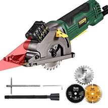 """Circular Saw, TECCPO 3-3/8"""" 3700 RPM Compact Mini Circular Saw with Lase... - $98.57"""