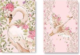 Set of 2 (Unframed) Swan Wall Art Makeup Bathroom Decor Art Print (11x17)  - $26.00