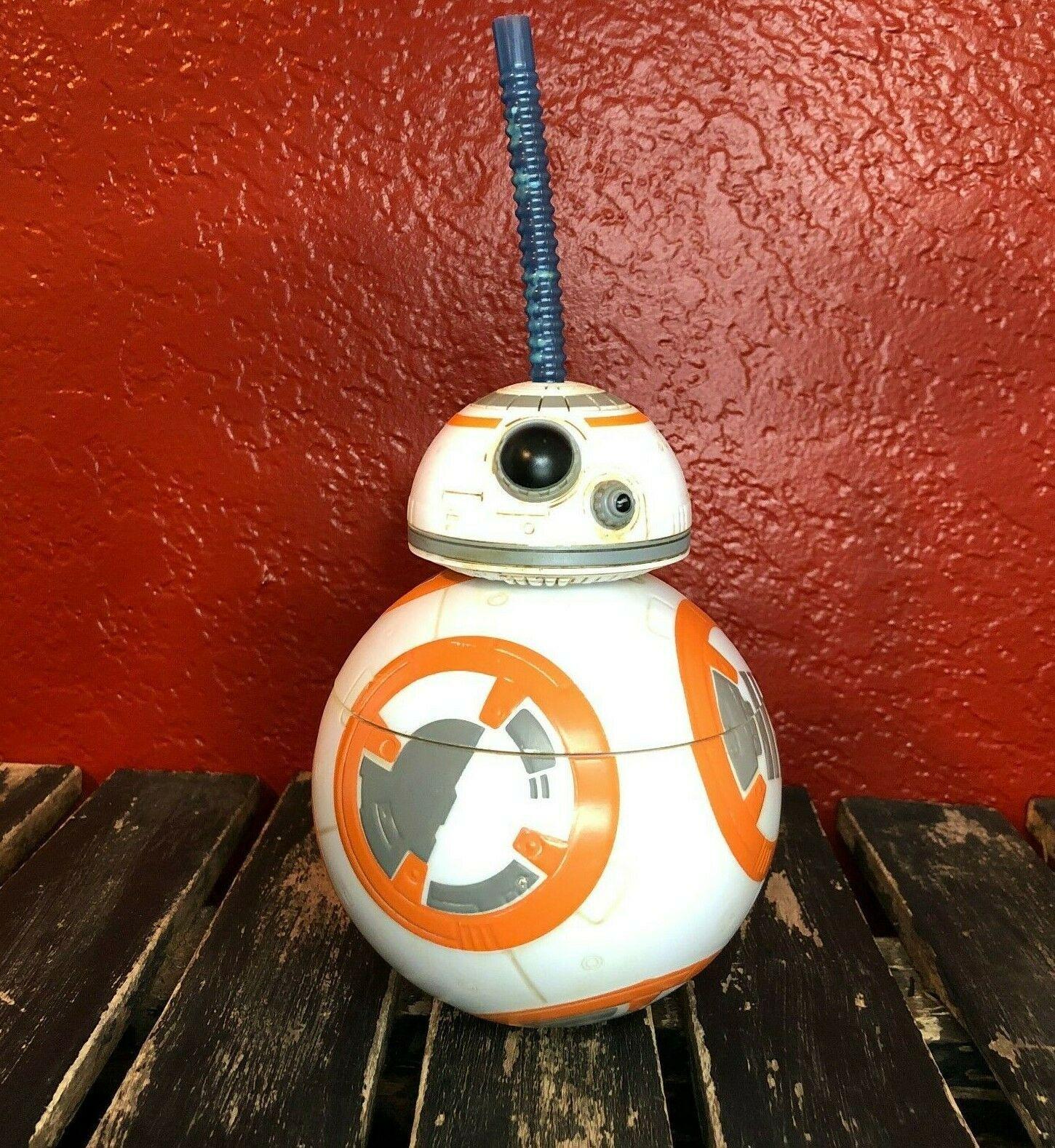 Disney Parks Star Wars BB-8 Souvenir Cup Straw Exclusive Collectible Disneyana - $13.67