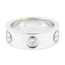 Cartier Love Ring 1P Diamond Ring Pt950 Platinum US4-4.5 Used MINT condi... - $1,382.04