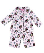 Disney Girls Minnie Mouse Pajamas 12M Pink Flannel 2 Pc Button Front PJs... - $9.99