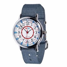 EasyRead Time Teacher Children's Watch, Red Blue 12/24 Hour Face, Grey S... - $36.23