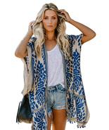 Blue Prowess Pom Pom Kimono - $21.56