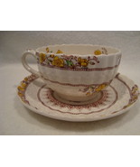 Copeland Spode white porcelain tea cup and saucer in the buttercup pattern. - $25.00