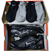 Nike Air Max Torch 4 Bundle BLACK/SILVER/ANTHRACITE Gray Plus 4 Nike Ankle Socks - $106.00