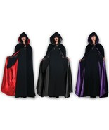 Underwraps Black Velvet Hooded Cape Renaissance Adult Halloween Costume  - $31.89