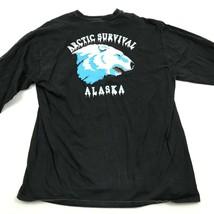 VINTAGE Arctic Survival Alaska Long Sleeve Shirt Size XL 1X COOL SCHOOL ... - $27.33