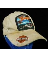 Harley Davidson Tampa Beige Baseball Cap Hat Dirty Loop Hook Adjustment ... - $44.99