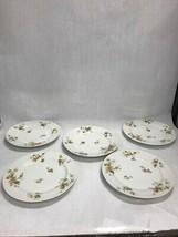 Vintage Haviland Limoges France Autumn Leaf 9.5 dinner Plate 5 pieces marked - $96.48