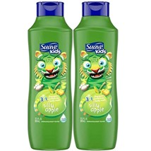2 Suave Kids 22.5 Oz Silly Apple 3 In 1 Shampoo Conditioner Body Wash Te... - $15.49