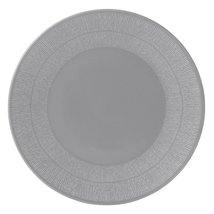 WEDGWOOD VERA WANG VERA SIMPLICITY DINNER PLATES SET OF 2 PLATES GREY SO... - $99.65