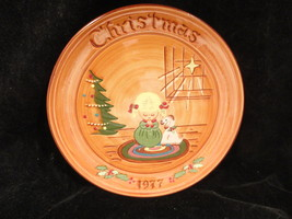 Little Girl & Dog Praying  Pennington Pottery Christmas Plate1977 - $9.99