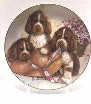 Danbury Mint Bonnet And Bows Puppy Pals Ruane Manning Collectible Plate ... - $10.88