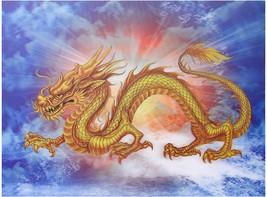 Golden Chinese Dragon 3D Lenticular Poster - $39.00