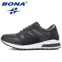 Mesh BONA Shoes Style Sneake Up Men Running Walking Lace Shoes Typical Suede New SqrSPwH
